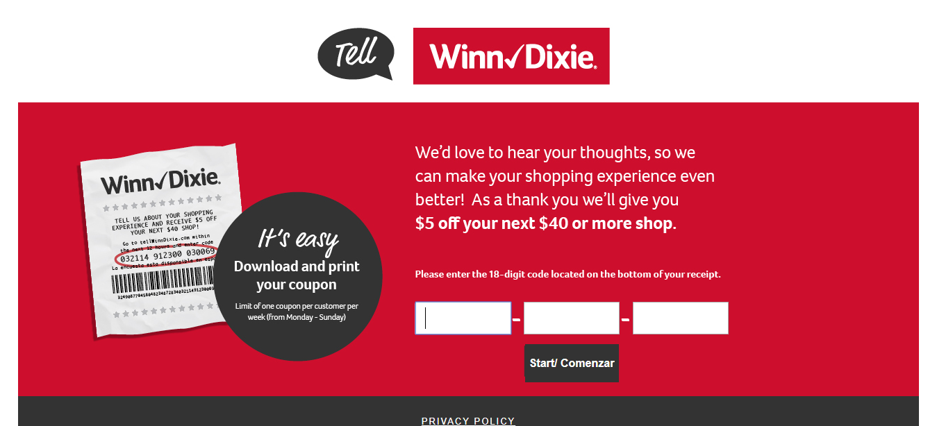 www tellwinndixie com surveys