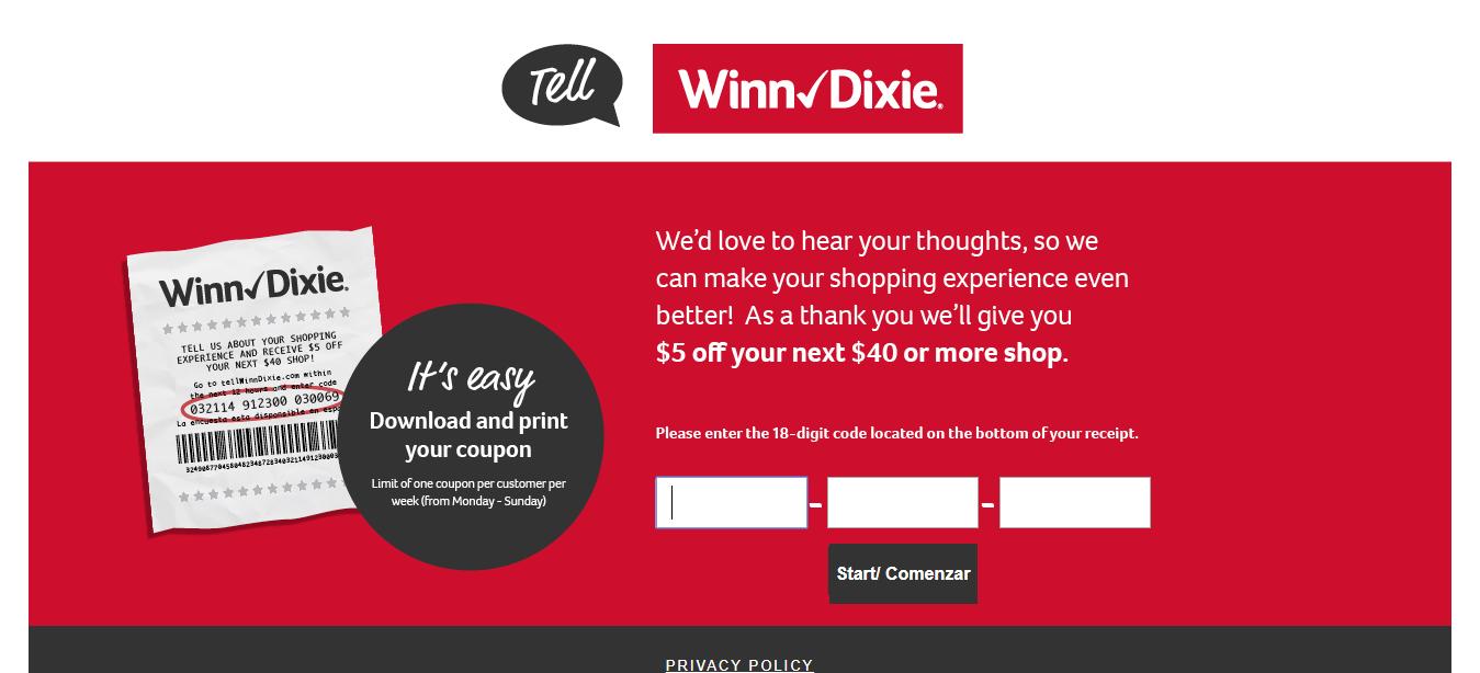 www tellwinndixie com surveys