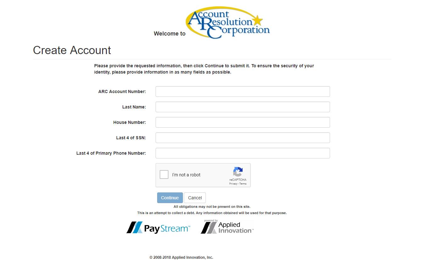 Account Resolution Corporation