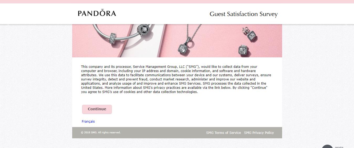 Pandora Canada Guest Satisfaction Survey
