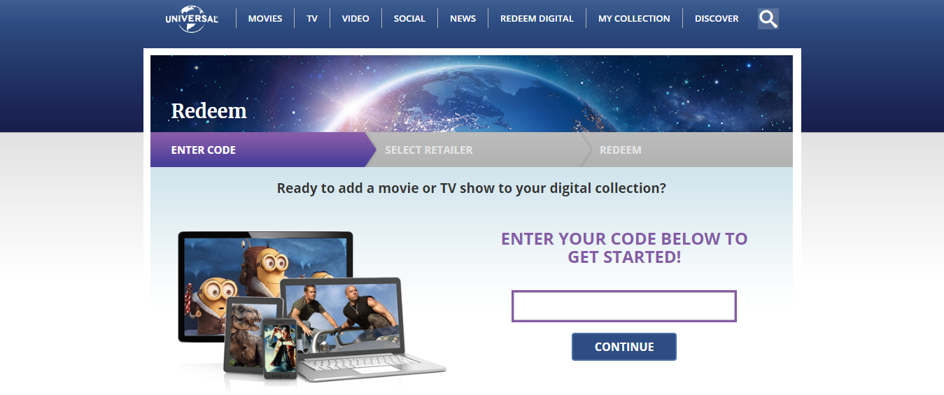 Redeem Digital for Movies and TV Shows
