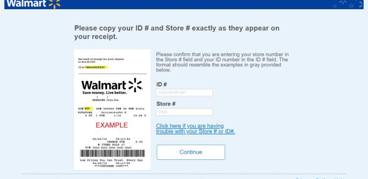 Walmart sweepstakes