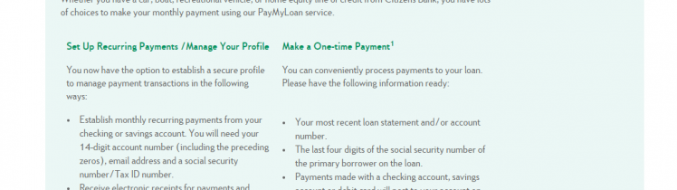 Pay My Loan Citizens Bank