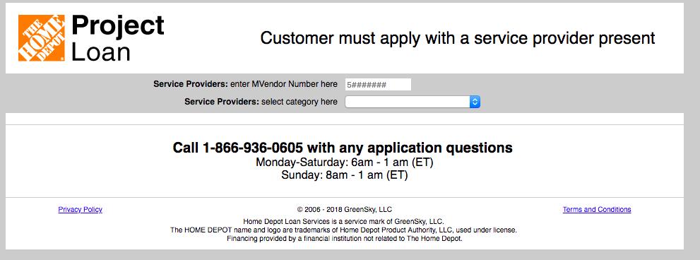 Home Depot Loan