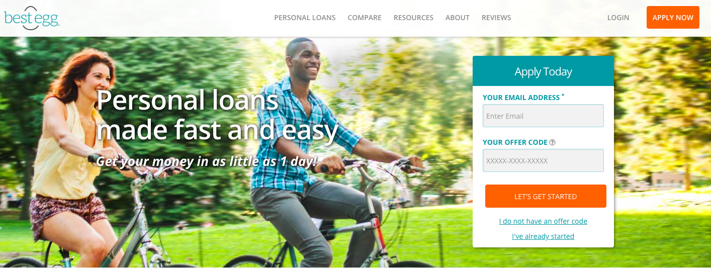 Best Egg Quick Personal Loans