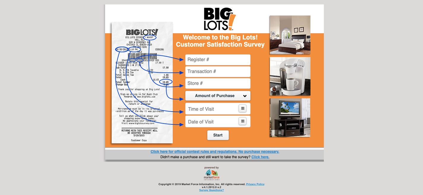 Big Lots Customer Survey