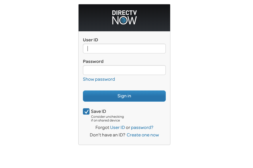 DIRECTV NOW Login
