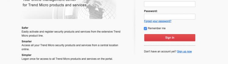 Trend Micro™ Customer Licensing Portal