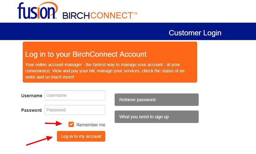 Birch Connect Login