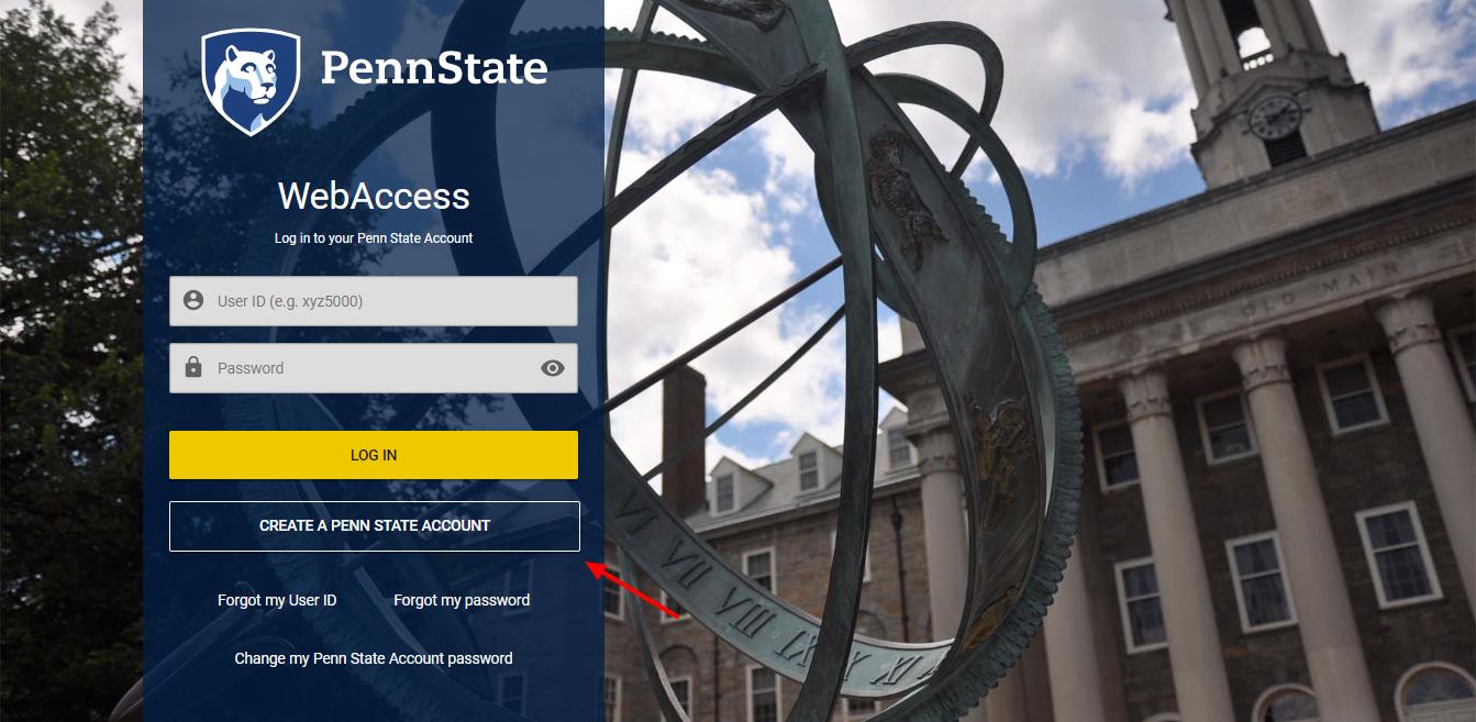 Penn State WebAccess Secure Login