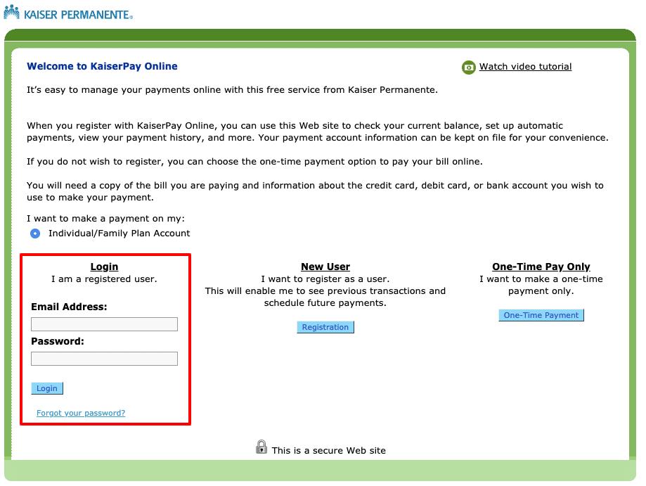 KaiserPay-Online-Kaiser-Permanente