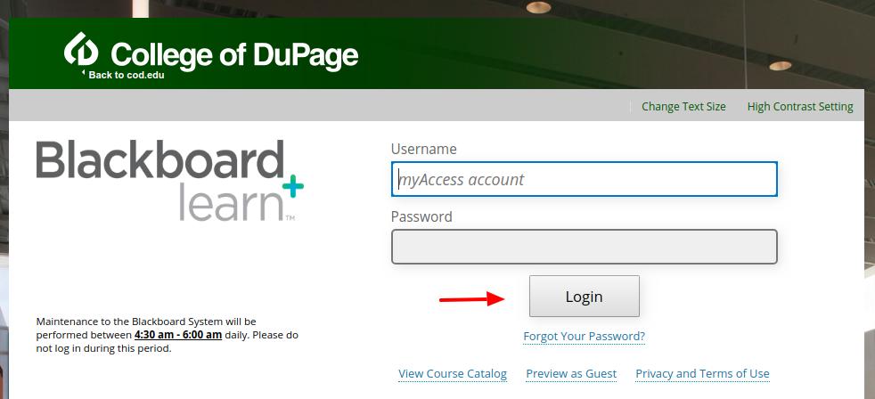 Blackboard Learn login