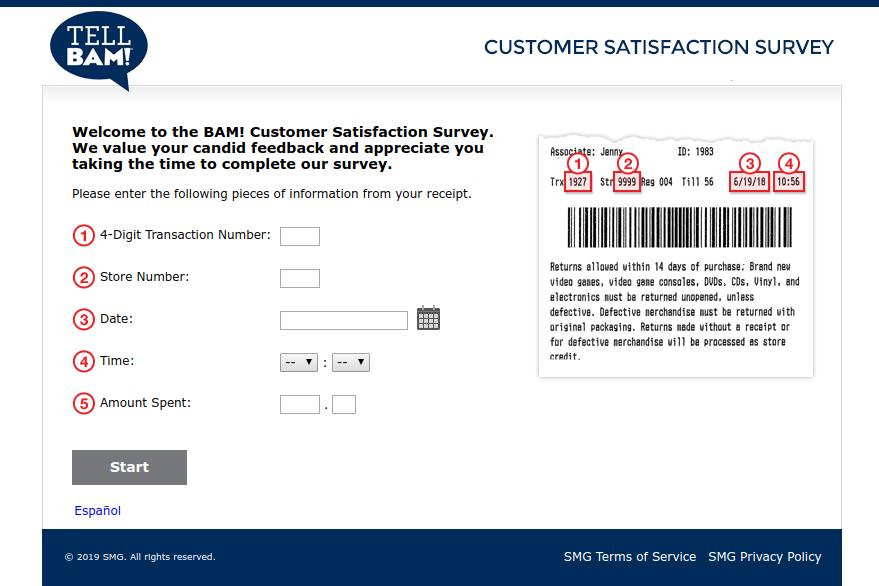 BAM Customer Satisfaction Survey