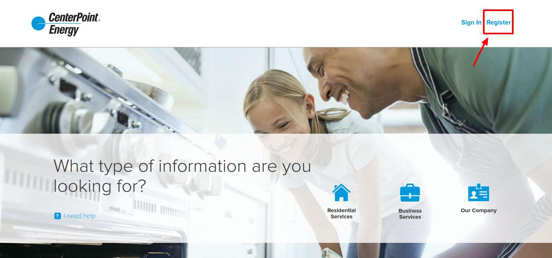 CenterPoint Energy Register