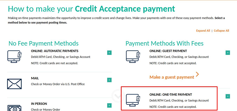 Credit Acceptance Make A Payment