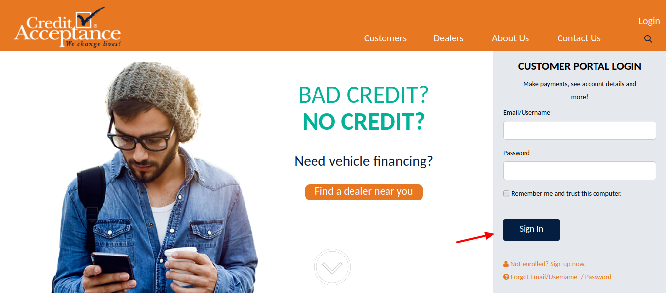 Credit Acceptance Sign In