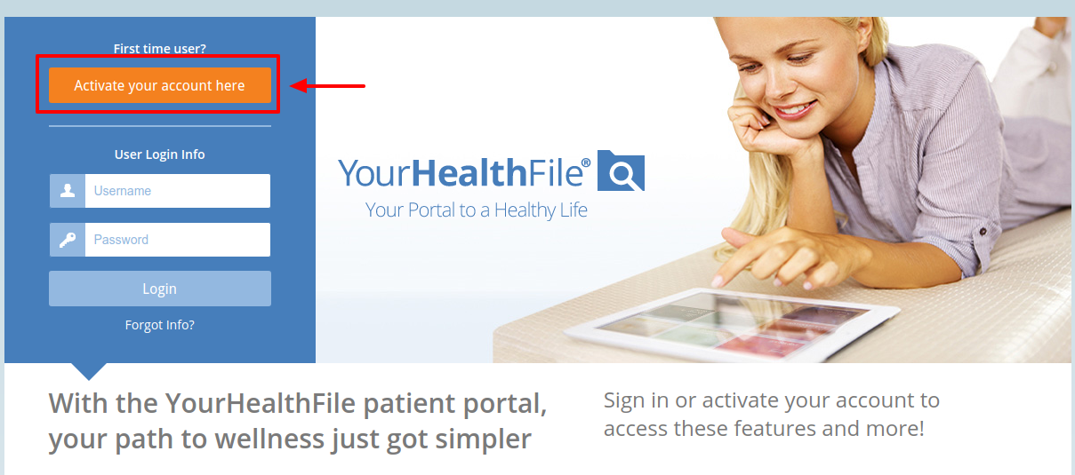 YourHealthFile Activate Account