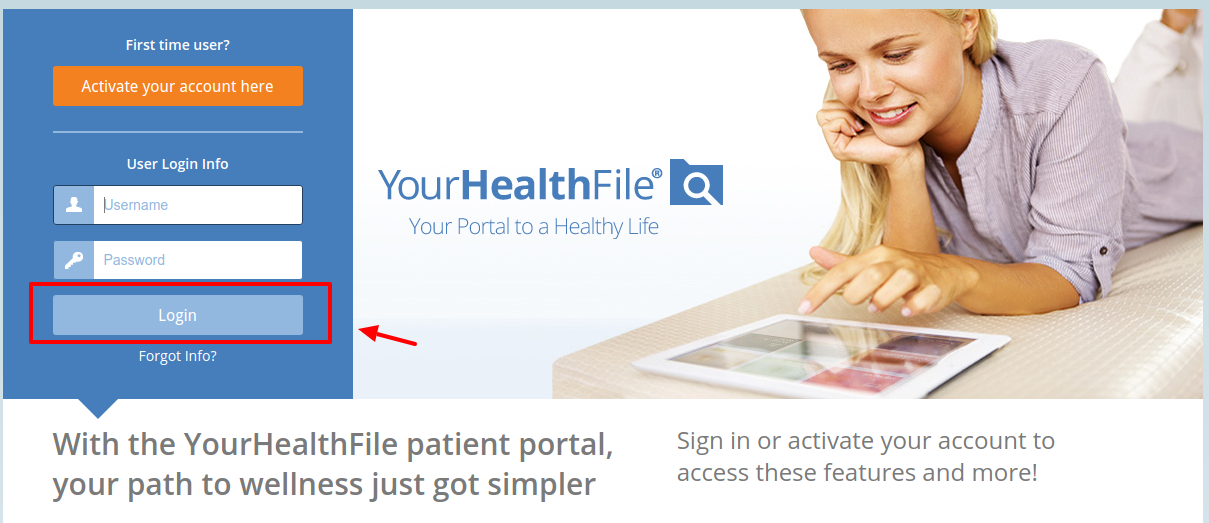 YourHealthFile Log In