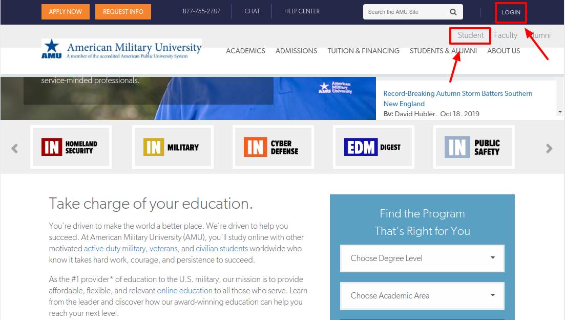 American Military University Student Login