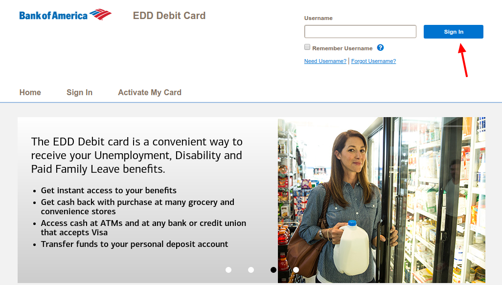 EDD Debit Card Login