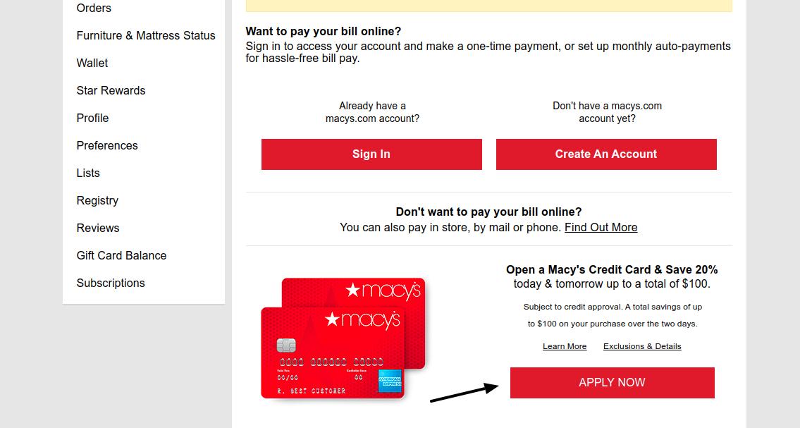 Macs Credit Card Apply