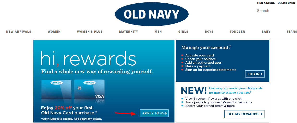 Old Navy Credit Card Apply