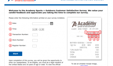 Outdoors Customer Satisfaction Survey