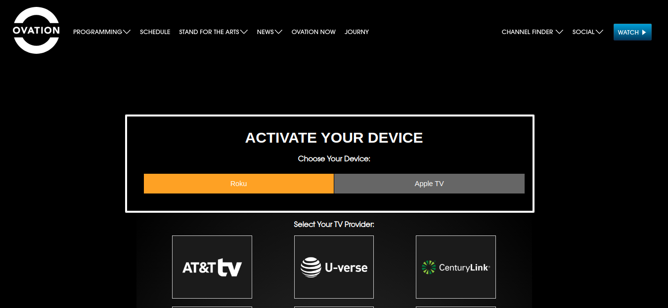 Activate Ovation TV