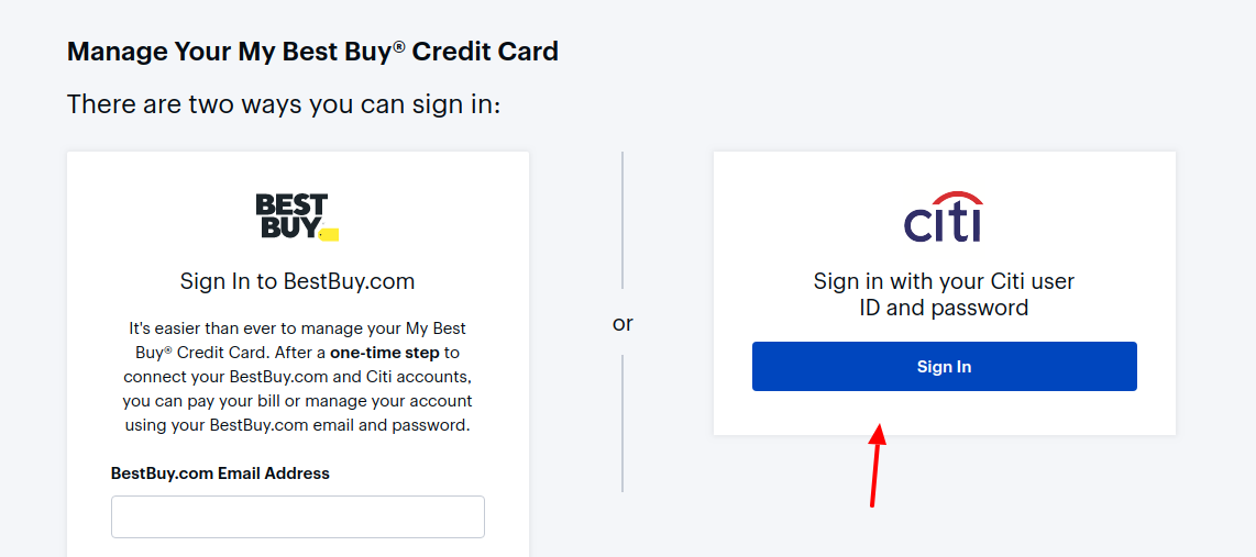 BestBuy Credit Card Sign In