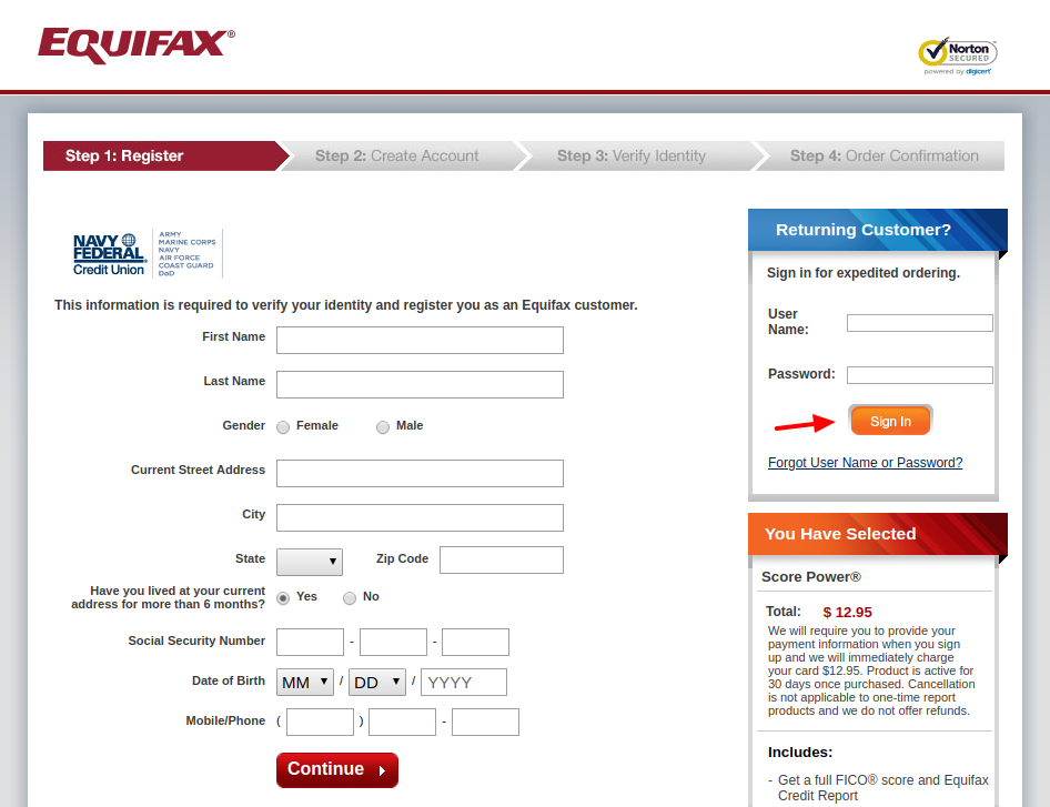 Equifax Personal Solution Login