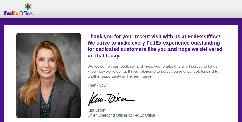 FedEx Office Survey