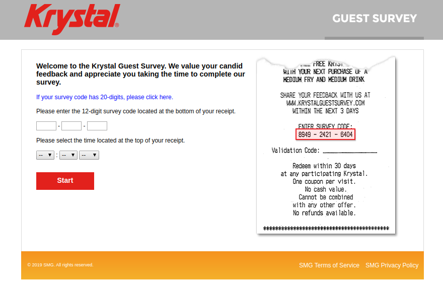 Krystal Guest Survey