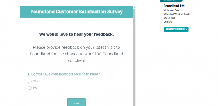 Customer Survey Poundland