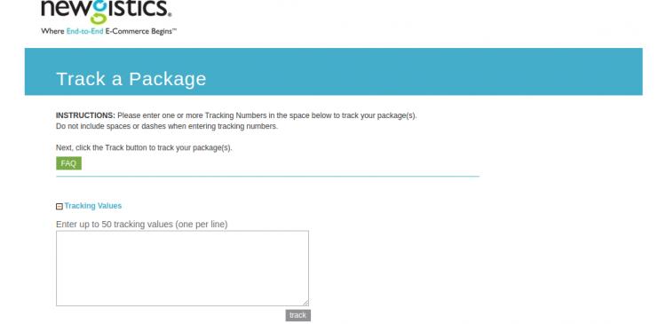 Newgistics Package Tracking