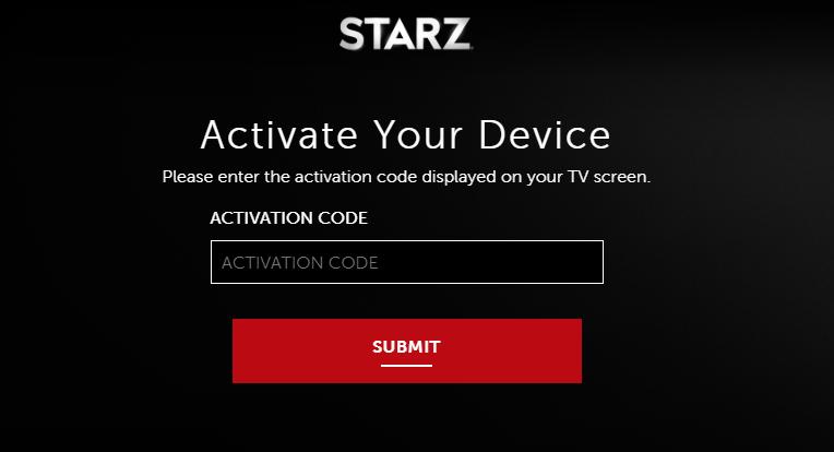 Starz Device Activate