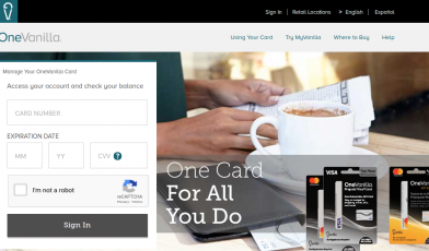 OneVanilla Prepaid Card Logo