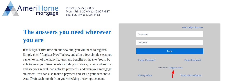 amerihome loanadministration Register