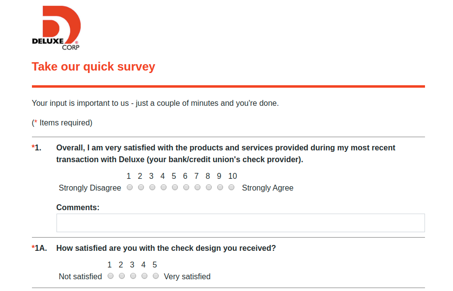 Deluxe Email Survey