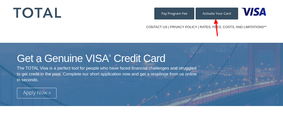 Total Visa Card Activate