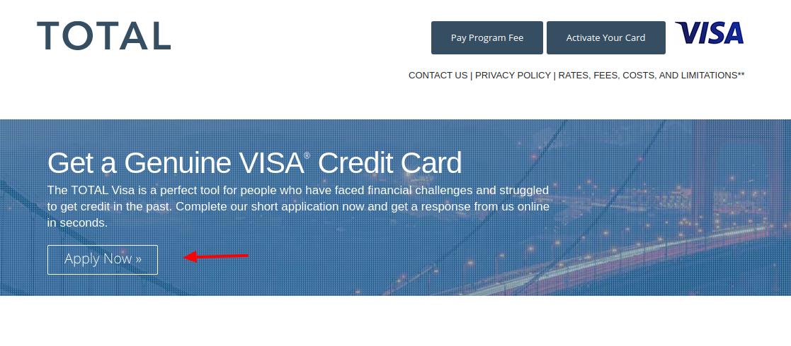 Total Visa Card Apply