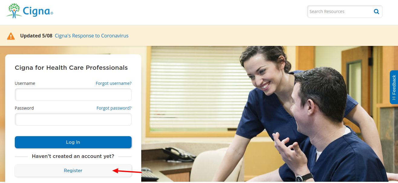 Cigna Health Care Register