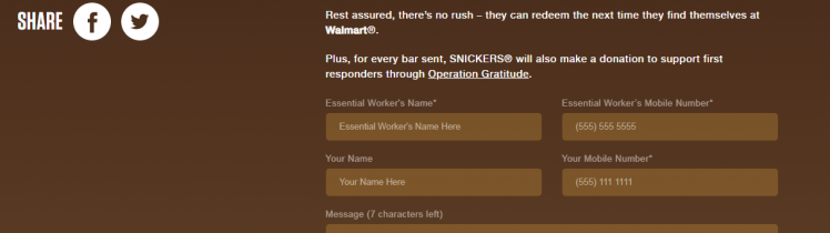 Participate in the Send a Snickers