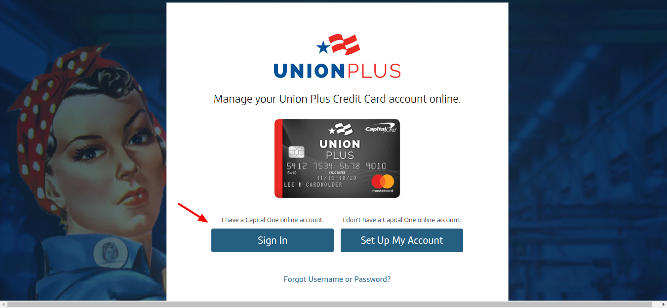 Union Plus Credit Card Sign In