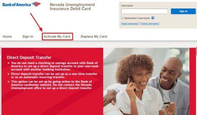 activate your Nevada Unemployment Insurance debit card copy