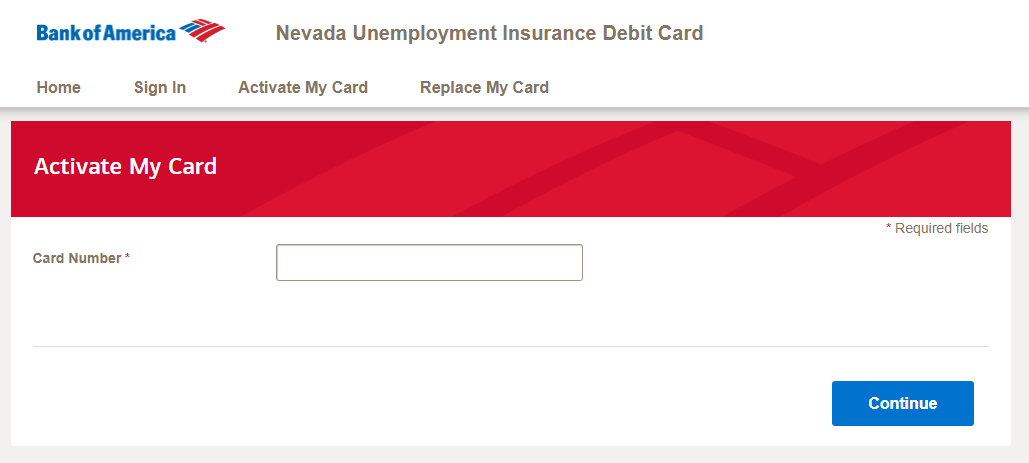 activate your Nevada Unemployment Insurance debit card