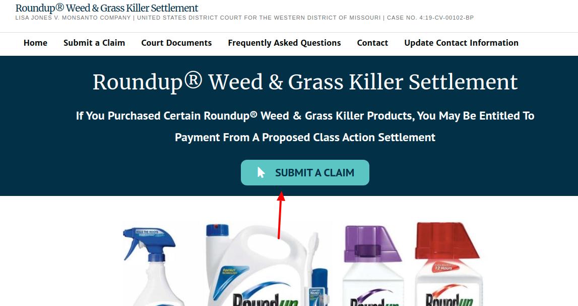 Roundup WGK  Submit a Claim