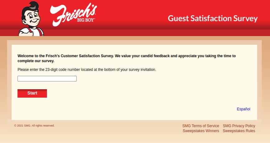 Frischs Customer Survey