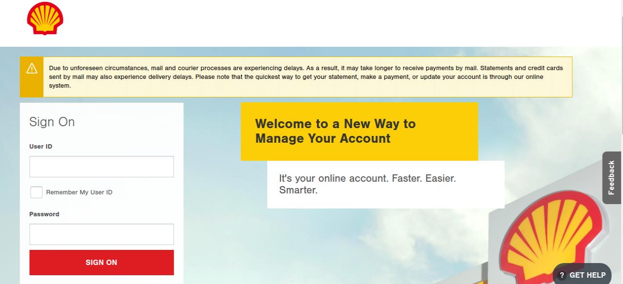 Shell Credit Card Login