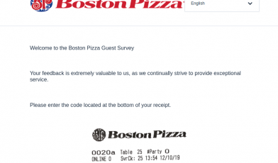 Boston Pizza Survey