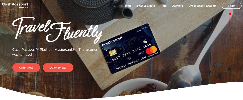 Cash Passport MasterCard Login